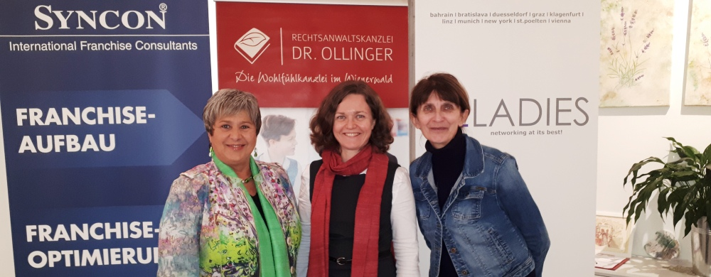 Franchise-Cocktail der Bizladies in der Anwaltskanzlei Dr. Ollinger