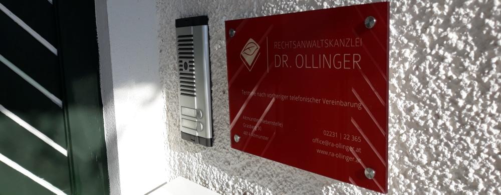 Neuer Standort der Rechtsanwaltskanzlei Dr. Ollinger im Salzkammergut